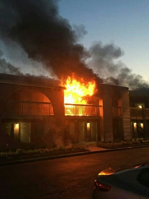 Guests from 50 rooms were evacuated following a two-alarm fire at the Best Western Hotel in South Brunswick on Sunday night.