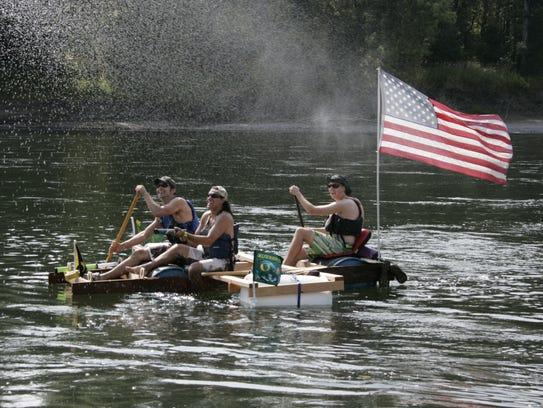 Great Willamette Raft Race, Aug. 9