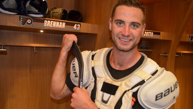 Moorestown native T.J. Brennan is embarking on his first training camp with the Flyers.