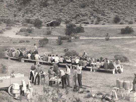 Breakfast ride circa 1945. (Courtesy of Tracy Conrad)