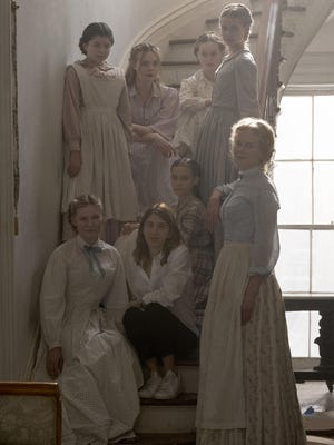 Sofia Coppola, center, and the female cast of 'The Beguiled.'