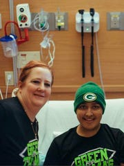 Thomas Harris with his mother, Kim Kaletka at Children's Hospital of Wisconsin in February, 2018.