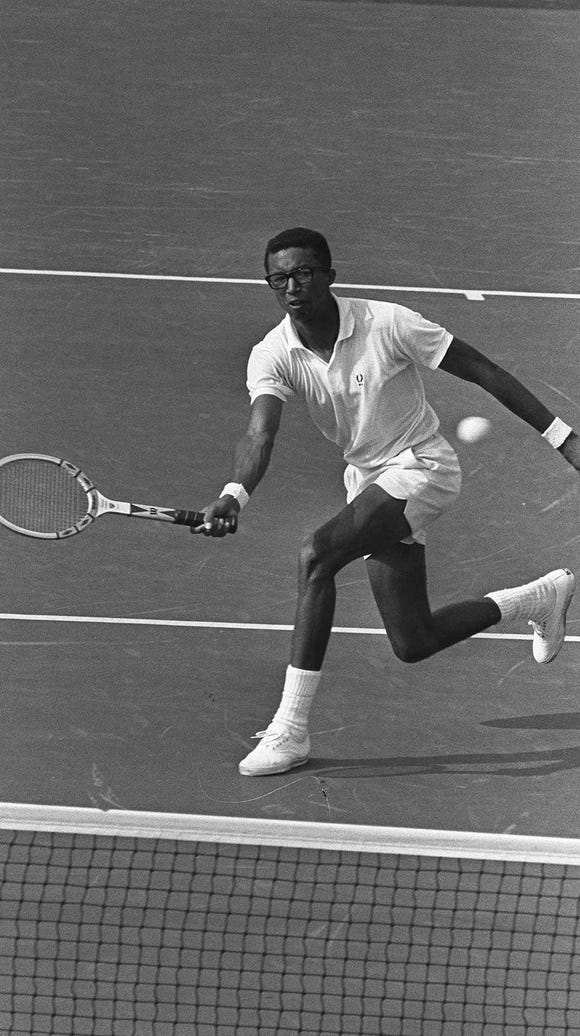 Arthur Ashe displays some of the talent that swept