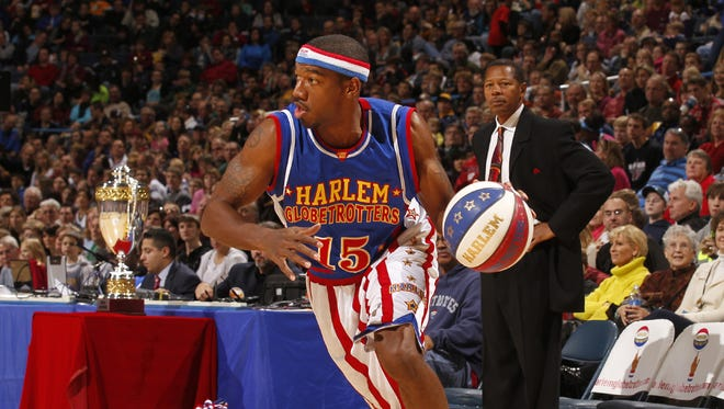 Buckets Blakes is in his 14th season with the Harlem Globetrotters.