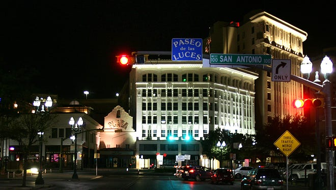 The Paseo de las Luces was part of a Downtown revitalization that lined South El Paso Street from the Santa Fe Street bridge to San Jacinto Plaza.