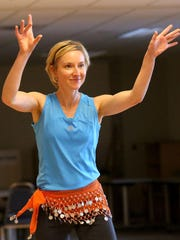 Elisa Bledsoe dances during Move and Groove at the