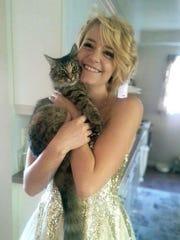 Senior HolliRay Dyer has a guilty pleasure of cats
