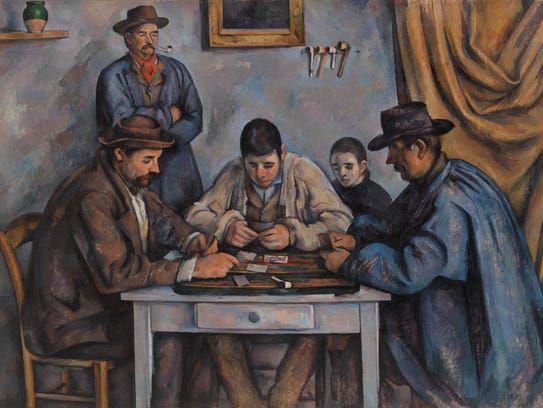 Paul Cézanne (French, 1839–1906)'s 'The Card Players