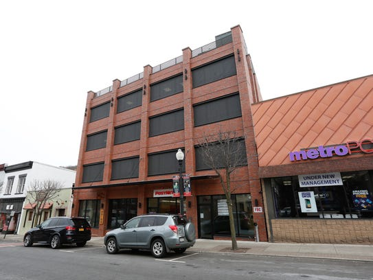 A recently-built office building at 74 Lafayette Ave.