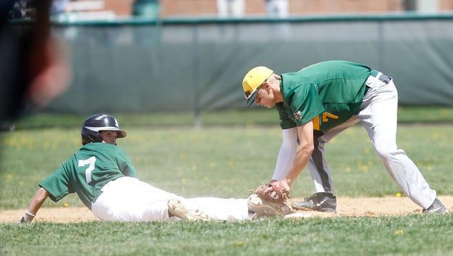 Yorktown defeats Lakeland 5 - 3 in a baseball game at Yorktown High School on Saturday, April 23, 2016.
