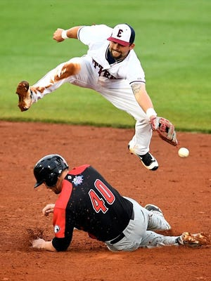 MIKE LAWRENCE / COURIER & PRESS Evansville Otters' all-star second baseman Josh Allen is regarded as one of the best fielders in the Frontier League.
