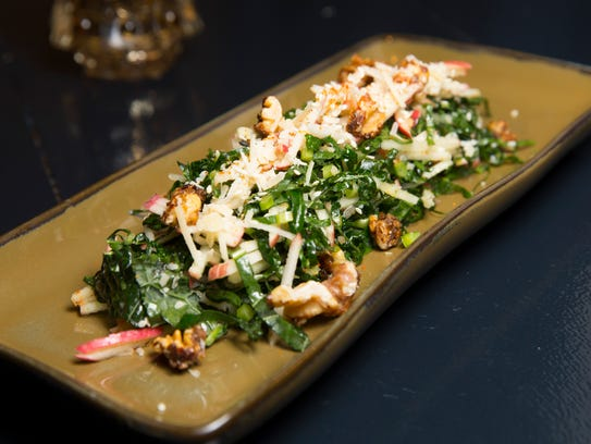 Kindred's kale, apple and SarVecchio cheese salad has