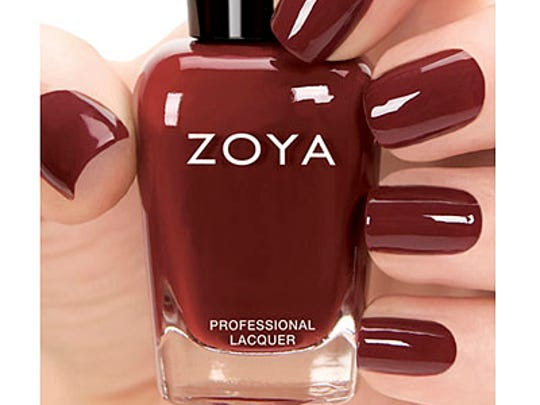 A bit of Marsala in this Pepper nail polish from Zoya.