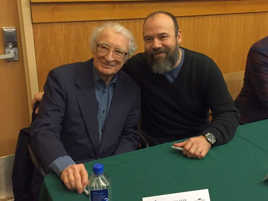 Sheldon Harnick with Danny Burstein, star of the 2015