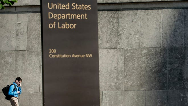 The U.S. Department of Labor building in Washington.