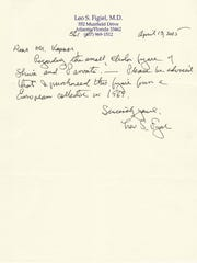 This letter from Leo S. Figiel shows that Figiel claims to have purchased the idol in 1969.