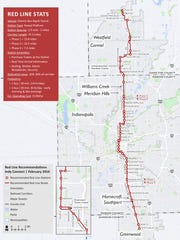 Voters in Clay and Washington Townships could decide whether too increase taxes to pay for the Red Line bus rapid transit route in Hamilton County.