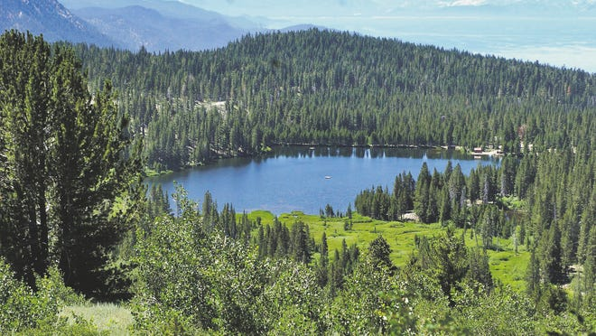 Incline Lake before it was drained in 2009. Forest Service officials were urged Monday to consider re-filling the lake to be used as a trout fishery.