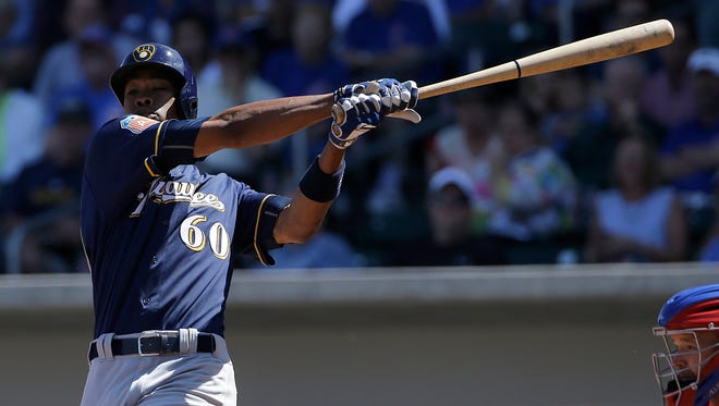 Keon Broxton isn't expected to be the future in center field for the Brewers, but he'll get a chance to prove what he can do this season.