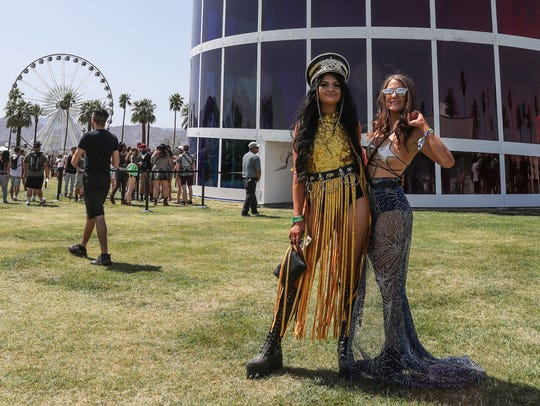 Apr 13, 2018; Indio, CA, USA; Music fans pose for a
