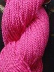 This hot pink Shepherd's Wool Yarn from Stonehedge
