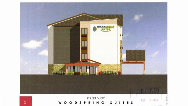 A four-story, 124-room hotel proposed for a site near Mitchell International Airport has been rejected by Milwaukee officials.