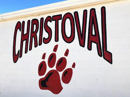 Christoval logo on Christoval Field House