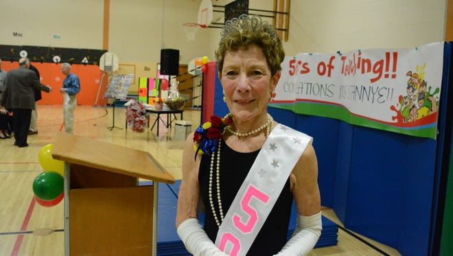 Rexford-Longfellow Elementary School celebrated kindergarten teacher Stannye Meads' 50th year of teaching May 13, 2016 in Clintonville, Wis.