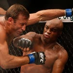 Anderson Silva, right, from Brazil, defeated Stephan Bonnar at UFC 153.