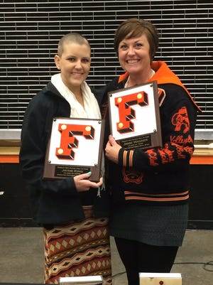 Jayme King, left, and Jamie Wagner were inducted into the Fernley High School Hall of Fame on Oct. 29.