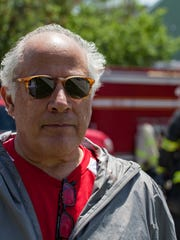 Michael Monte, chief operating and financial officer at Champlain Housing Trust,speaks about arrangements for displaced families following a Saturrday, June 9, 2018, fire at an affordable housing complex at 36 South Meadow Drive in Burlington.