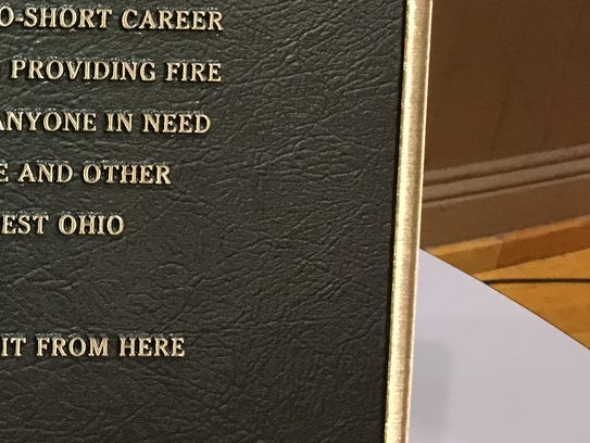 This plaque honoring Glendale Fire Capt. Tim Burns