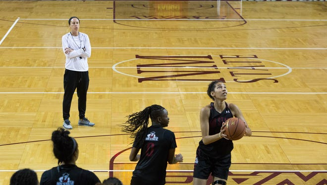 New Mexico State women's basketball Brooke Atkinson signed three players on National Signing Day on Wednesday.