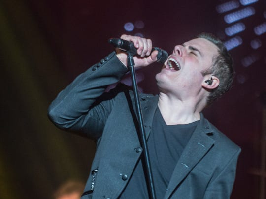 "Marc Martel sings as the Black Jacket Symphony presented Queen's ""A Night at the Opera"" on Saturday, Feb. 18, 2017, at the Montgomery Performing Arts Centre."