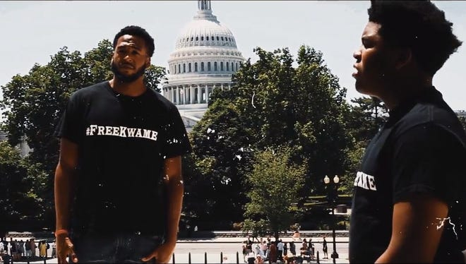 Jelani and Jonas Kilpatrick, two of the sons of imprisoned former Detroit mayor Kwame Kilpatrick, released a music video to promote the #FreeKwame campaign.