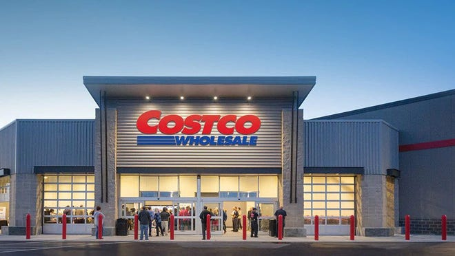 A Costco Wholesale storefront.