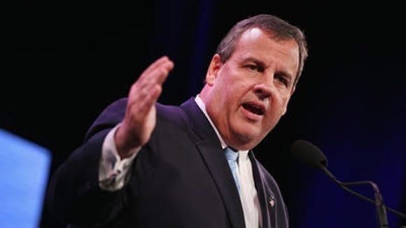 New Jersey Gov. Chris Christie speaks at the Iowa Freedom