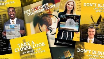 The Office of University Communications at USM took home a prestigious Lantern Award for the University's Closer Look advertising campaign .