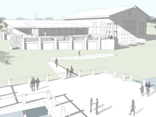A conceptual design from Caldwell Associates Architects