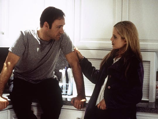 A scene from American Beauty with Kevin Spacey and Annette Bening.