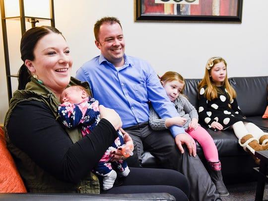 Sarah and David Panek, Big Lake, with their daughters