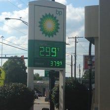 Gas prices hit $2.99.