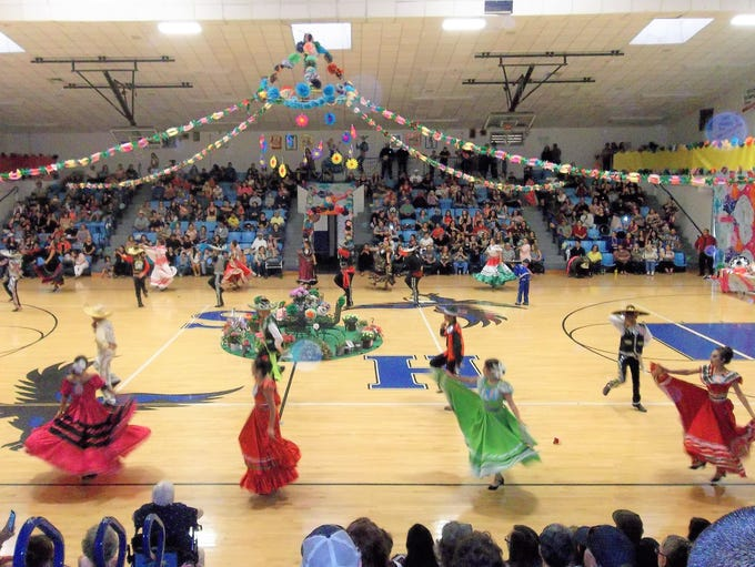 Dancers showed pride in the heritage they were representing.
