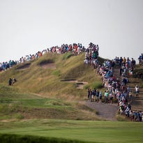 The crowd watches the action  during the final round of the PGA Championship at Whistling Straits last year. Whistling Straits will be the site of the 2020 Ryder Cup.