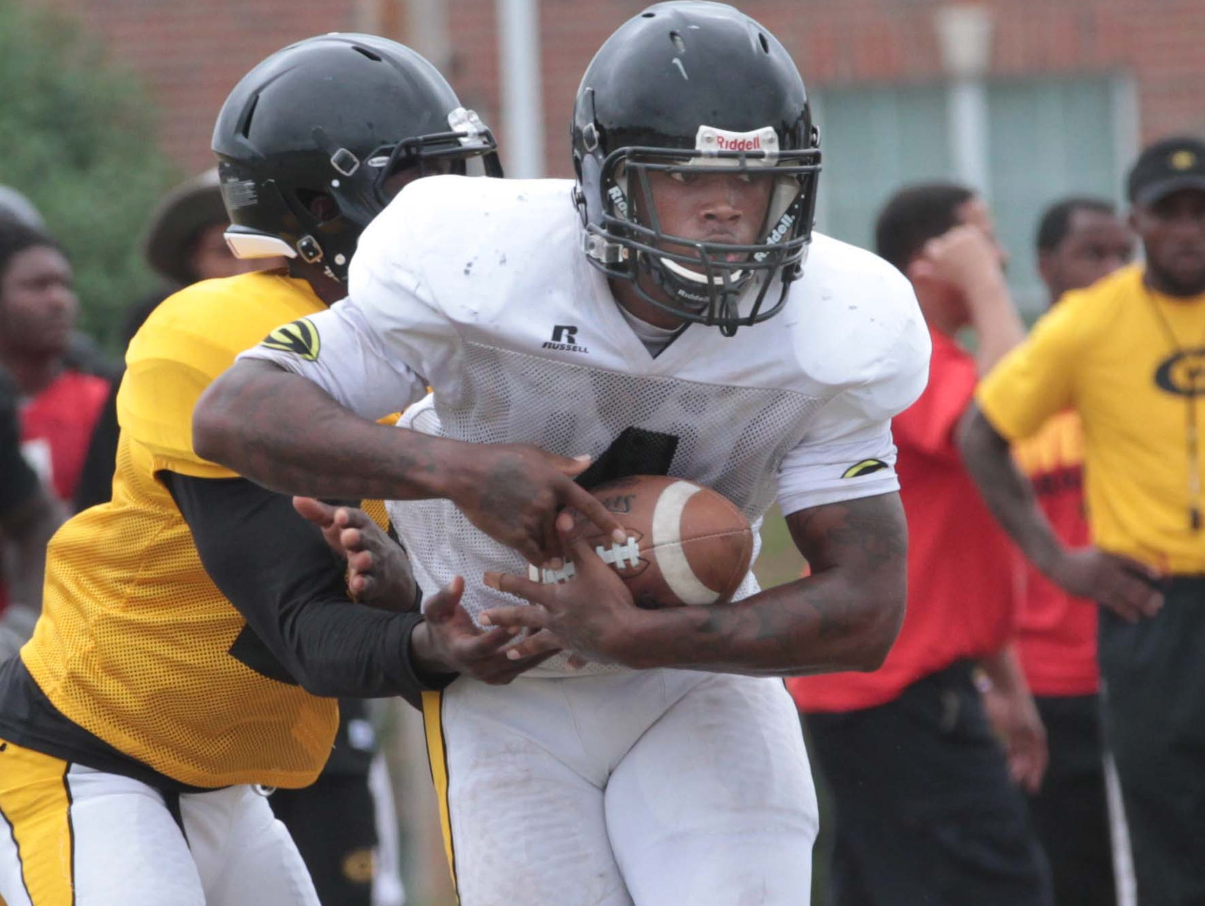 Grambling running back Martez Carter played basketball