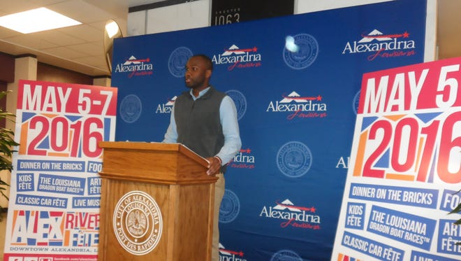 Alexandria Community Services Director Daniel Williams on Monday announces details of Alex RiverFete, which is set for May 5-7.