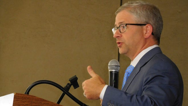 Tenth District U.S. Rep. Patrick McHenry speaks to the Council of Independent Business Owners in July.