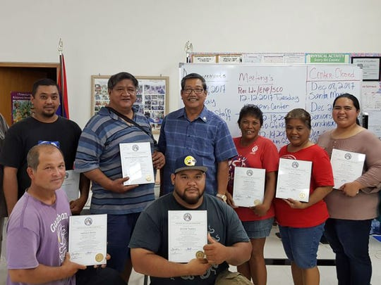 Sen. Joe S. San Agustin presented certificates of recognition