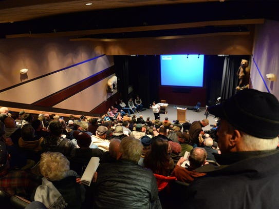 Lewis and Clark Interpretive Center was packed Wednesday