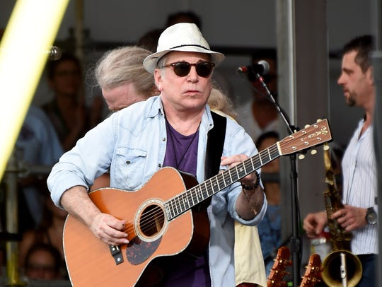 Musician Paul Simon performs at the 2016 New Orleans
